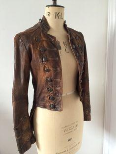 All saints leather jacket- karst tailcoat SOLD OUT! All Saints Leather Jacket, Pirate Fashion, Women's Fashion, Jackets, Stuff To Buy, Etsy, Life, Beautiful