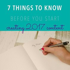 Don't miss my blog post this week 7 things you need to do before you start preparing 2017 content.http://ift.tt/2fGI1L3