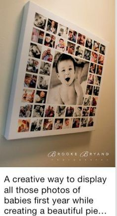 Creative way of displaying baby's first year with all its milestones...