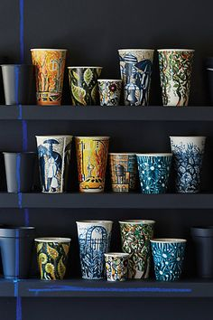 Ceramic Sketch Cup #anthropologie