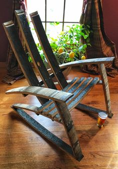 Adirondack Whiskey Barrel Rocking Chair By BrewCrafted On Etsy