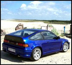 Honda CRX  This is the car that I currently own. Except that it is white, not blue :(