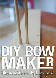 DIY bow-maker, don't forget to click through and see her DIY making the bow