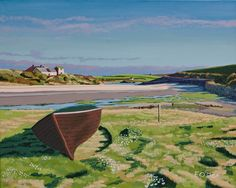 Fishing Boat Ruin Irish Landscape, Irish Art, Donegal, Fishing Boats, Art For Sale, Ireland, Landscapes, Drawings, Painting