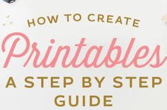 How to Create Printables - A step by step guide to designing products for your… Way To Make Money, Make And Sell, How To Make, Craft Online, Freebies, Craft Business, Business Ideas, Creative Business, Apps
