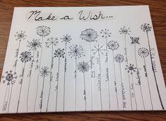 Make A Wish class art project