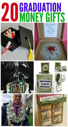 Graduation Gift Ideas Made From Money.  Simple Graduation DIY Gift Ideas that anyone can make.  Graduation | Gift Ideas | Money Gifts | DIY | Easy via @PennyPinchinMom