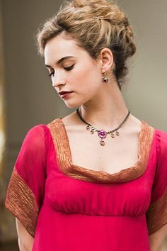 Lily James as Natasha Rostova In 'War and Peace.