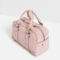 Zara bag Zara blush pink bag worn twice like new condition Zara Bags Mini Bags Stylish Handbags, Pink Handbags, Gucci Handbags, Purses And Handbags, Leather Handbags, Handbags Michael Kors, Buckle Bags, Zara Bags, Girls Shoes