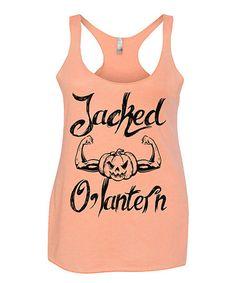Look what I found on #zulily! Orange 'Jacked O'Lantern' Racerback Tank - Women #zulilyfinds