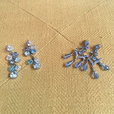 Duo of Blue Crystal Earrings Sparkly ocean blue, these beauties will take your breath away. Jewelry Earrings
