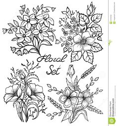 Download arrangement of flowers black and white outline drawing vintage flower drawing black and white google search mightylinksfo