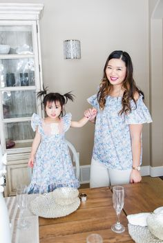 Mommy and me outfits: Spring Florals & Ruffles from Ele Story | mommy + me outfit ideas | mommy and me fashion | mommy and me spring fashion | fashion tips for moms and daughters | how to style a mommy and me outfit | mommy and me style ideas || Sandy A La Mode