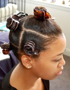 This blowout technique with Bantu knots