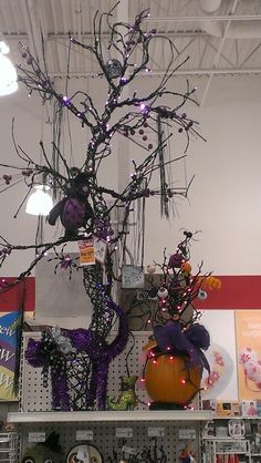 Big Black and Purple Tree, home of the Purple Cat and Owl...Robin Evans