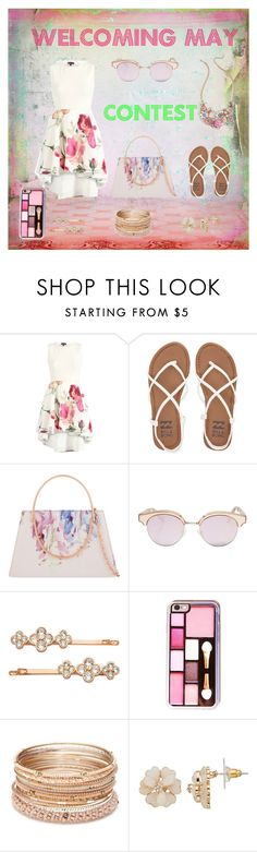 """Welcoming MAY CONTEST!"" by starspy ❤ liked on Polyvore featuring Billabong, Ted Baker, Le Specs, Henri Bendel and Red Camel"