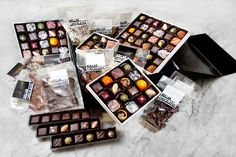 Packaged assorted chocolates