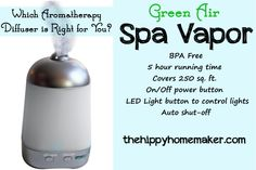 Which Aromatherapy Diffuser is Right for You? An Aromatherapy Diffuser Review & Giveaway - TheHippyHomemaker