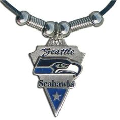 NFL Seattle Seahawks Leather Cord Necklace by Siskiyou. $10.21. NFL  Leather Cord Necklace