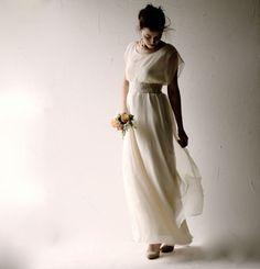 Boho Wedding dress Bohemian wedding dress Beach by larimeloom