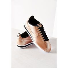 Nike Women's Classic Cortez Leather Sneaker ($70) ❤ liked on Polyvore featuring shoes, sneakers, copper, nike trainers, nike sneakers, nike footwear, nike shoes and leather trainers