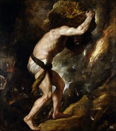 Sisyphus. 1548-49. Titian. Italian. 1485-1576. oil on canvas.