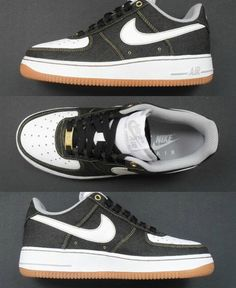"low priced 82463 9c3f7 Nike Air Force 1 Low ""Black Denim"" (First Look) Tenis, Estilo"