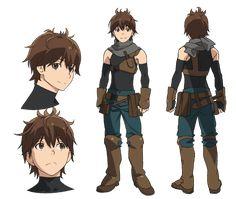 Haruhiro from Grimgar of Fantasy and Ash Character Model Sheet, Character Modeling, Character Concept, Character Art, Concept Art, Manga Drawing, Manga Art, Grimgar, Manga Pictures