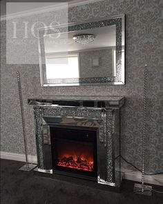 Diamond crush fireplace and mirror What a glamorous living area Interest free credit available on al Decor, Home Decor Accessories, Mirrored Furniture, Luxury Bedroom Furniture, Luxurious Bedrooms, Paris Themed Bedroom, Home Decor, Fireplace, Rustic Bedroom Design
