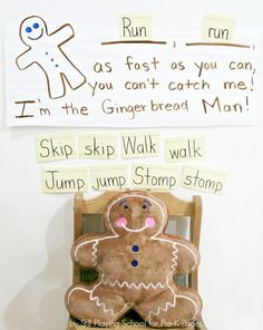 Gingerbread Man Gross Motor Activity - Pre-K Pages