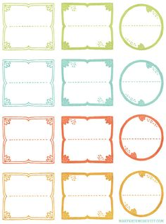 Jar Labels by MaryKateMcDevitt on Etsy