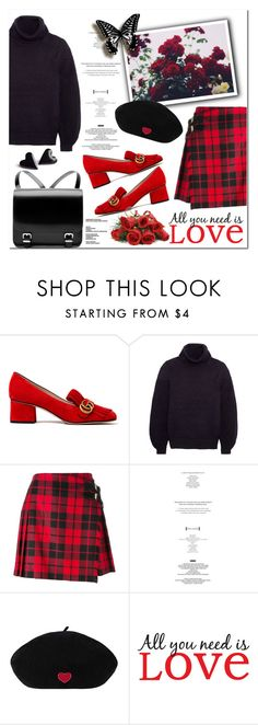 """All you need is love"" by beograd-love ❤ liked on Polyvore featuring Gucci, Nicole Miller, Jil Sander, Iris & Ink, Burberry, StyleNanda and Brewster Home Fashions"
