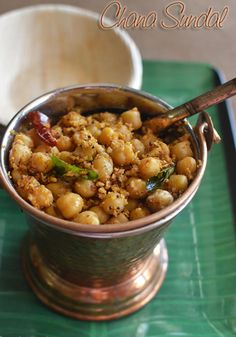 Kondakadalai Sundal/Channa Masala Sundal Kondakadalai Sundal or Spicy Channa Masala Sundal is a healthy, nutritious and scrumptious snack that is prepared by cooking chickpeas in a semi-dry coconut and lentils gravy and seasoned with mustard seeds, curry leaves and red chillies.