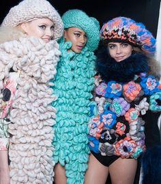 London Fashion Week H/W 2013 - Showrooms Knitwear Fashion, Knit Fashion, High Fashion, London Fashion, Textile Manipulation, Chunky Knitwear, Chunky Sweaters, Textiles, Glam Rock