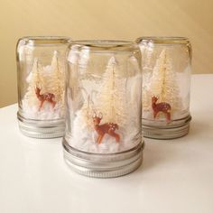 Forest Fawn Mason Jar Holiday Decoration by AJarMpls on Etsy, $14.00