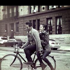 Ride bicycles together #annheartsfashion #fashion