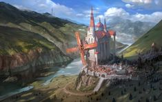 Windmill town by inshoo1.deviantart.com on @DeviantArt