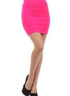 UsTrendy, Neon Pink High Waisted Mini Skirt,  Skirt, mini skirt  neon pink, Chic