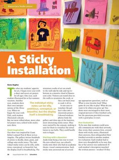 A Sticky Installation  SchoolArts - August/September 2012 - Page 38-39