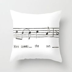 Here comes the sun- the Beatles  Throw Pillow by Elyse Notarianni | Society6