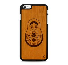 iPhone 6 Plus Case Matryoshka / iPhone 6 Plus Wood by CraftedCover