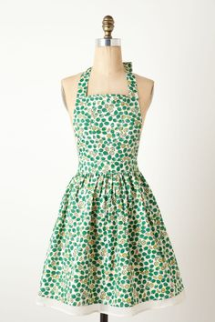 Key Lime Apron - Anthropologie.com (I like the style, but wish it came in different patterns)