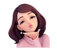 Summer 2 (in Winter) by Yinxuan Li Dezarmenien sticker Cute Cartoon Pictures, Cute Cartoon Girl, Cute Love Cartoons, Anime Girl Cute, Cartoon Pics, Anime Art Girl, Cartoon Art, Drawing Cartoon Characters, Cartoon Drawings