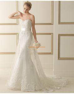 Schicke Herz-Ausschnitt Meerjungfrau Hochzeitskleider mit Tüllschicht 153 ESFERA | luna novias 2014