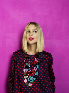 Peata dress, Kuohu and Vire necklaces by Marimekko - colorful finnish style--- like it Medium Hair Styles, Short Hair Styles, Couture, Madame, Mode Inspiration, Pretty Hairstyles, Style Me, Fashion Beauty, Hair Beauty