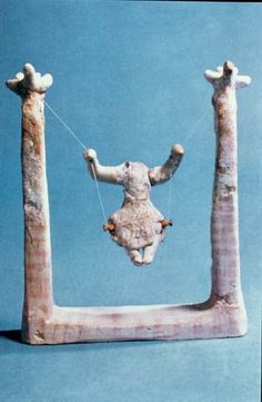 An age-old game that in ancient Greece we find with the name aiora or seira (rope), in the Byzantium a hanging aiora, and today as a swing.  It was mainly played with by girls and small boys. It was made with a single or many ropes, the two utmost ends of which were tied to a tree branch, a horizontal beam, from the transom of a door or from wherever possible, thus shaping a U.