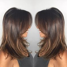 30 Cute Daily Medium Hairstyles 2018 – Easy Shoulder Length Hair Ideas – Hair – Hair is craft Haircuts For Long Hair With Layers, Medium Length Hair Cuts With Layers, Haircuts For Medium Hair, Medium Hair Cuts, Layered Haircuts, Medium Layered, Hair Layers, Medium Long, Brown Layered Hair