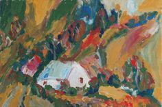 White homestead - Tetyana Snezhyk painting