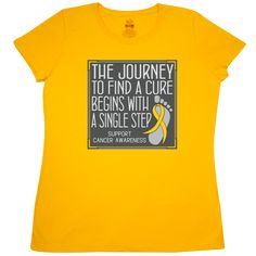 a844992263b Childhood Cancer Walk Journey to a Cure Women's T-Shirt - Gold. Ribbon  Revolution · Childhood Cancer Awareness