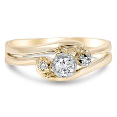 14K Yellow Gold The Tamera Matched Set from Brilliant Earth